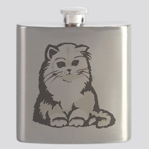 cute white persian kitten Flask