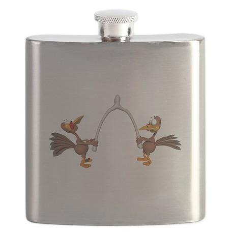 turkeys breaking wishbone Flask