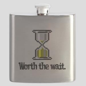 worth the wait hourglass Flask