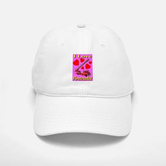 I Love Firetrucks Baseball Baseball Cap