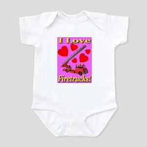 I Love Firetrucks Infant Creeper