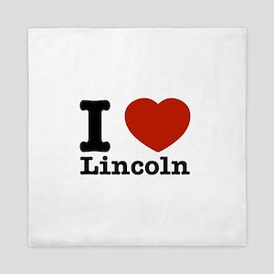 I Love Lincoln Queen Duvet