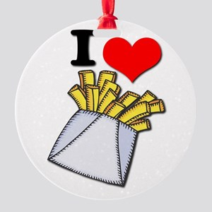 french fries Round Ornament