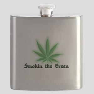 smokin the green black Flask