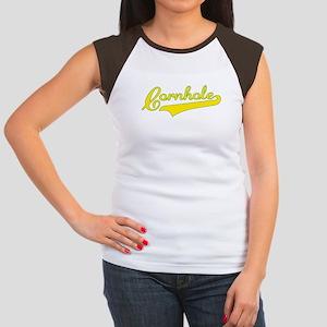 """Cornhole Swoosh"" Women's Cap Sleeve T-Shirt"