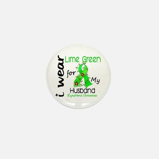 I Wear Lime 43 Lymphoma Mini Button