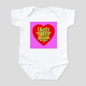 I Love My Cop Infant Creeper