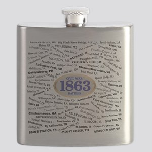 1863 Civil War Battles / Name Flask