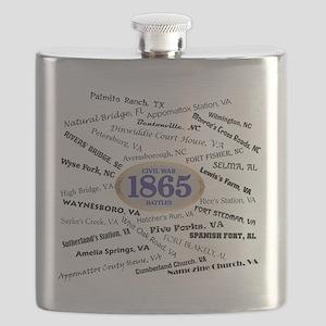 Battles - 1865 Flask