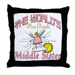 Angelic Middle Sister Throw Pillow