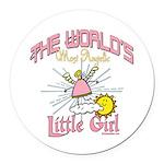Angelic Little Girl Round Car Magnet