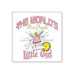 Angelic Little Girl Square Sticker 3