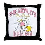 Angelic Little Girl Throw Pillow