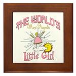 Angelic Little Girl Framed Tile