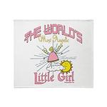 Angelic Little Girl Throw Blanket