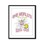 Angelic Little Girl Framed Panel Print