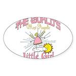 Angelic Little Girl Sticker (Oval 50 pk)