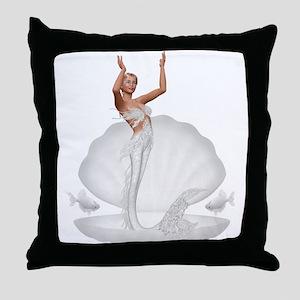 bride mermaid Throw Pillow