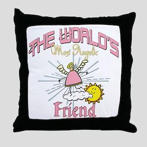 Angelic Friend Throw Pillow