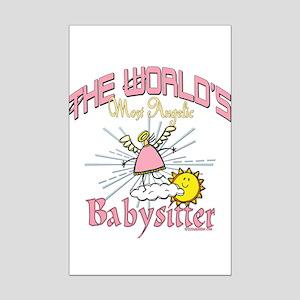 Angelic Babysitter Mini Poster Print