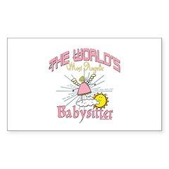 Angelic Babysitter Sticker (Rectangle 50 pk)