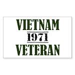 VIETNAM VETERAN 71 Sticker (Rectangle)
