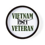 VIETNAM VETERAN 71 Wall Clock