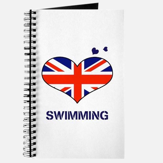 LOVE SWIMMING UNION JACK Journal