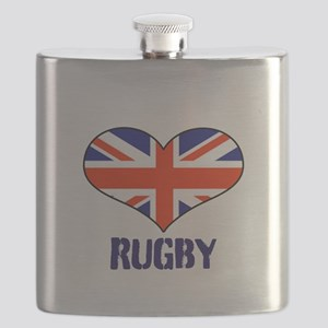 LOVE RUGBY UNION FLAG Flask