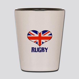LOVE RUGBY UNION FLAG Shot Glass