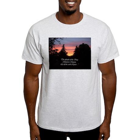 Sunset Splendor Ash Grey T-Shirt