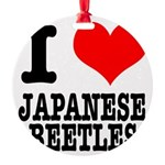JAPANESE BEETLES.png Round Ornament