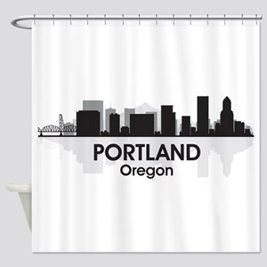 Portland Skyline Shower Curtain
