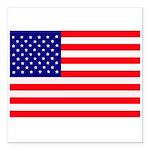 USA flag Square Car Magnet 3