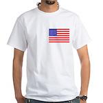 USA flag White T-Shirt