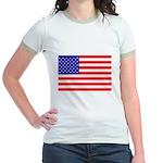 USA flag Jr. Ringer T-Shirt