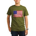 USA flag Organic Men's T-Shirt (dark)