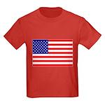 USA flag Kids Dark T-Shirt