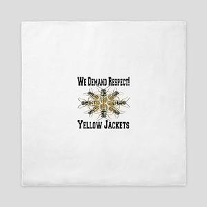 We Demand Respect! Yellow Jackets Queen Duvet