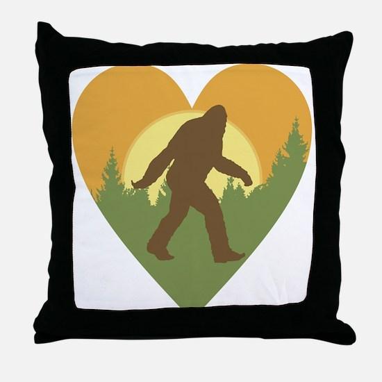 Bigfoot Love Throw Pillow