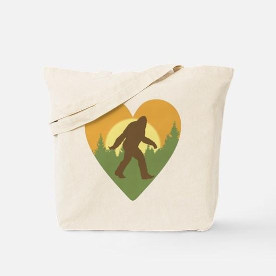Bigfoot Love Tote Bag