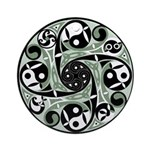 Celtic Spiral Stepping Stone Ornament (Round)