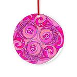 Celtic Pink Trispiral Ornament (Round)
