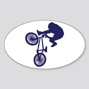 BMX Biker Sticker (Oval)