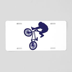 BMX Biker Aluminum License Plate