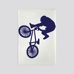 BMX Biker Rectangle Magnet