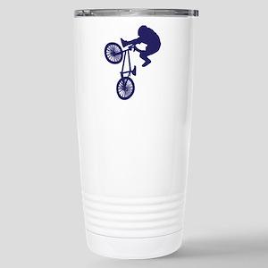 BMX Biker Stainless Steel Travel Mug