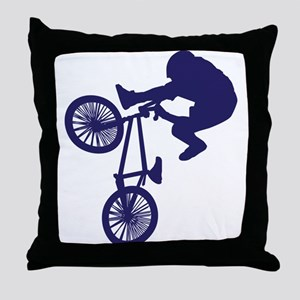 BMX Biker Throw Pillow