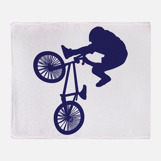 BMX Biker Throw Blanket