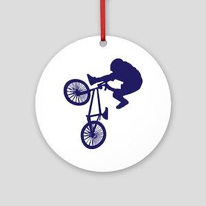 BMX Biker Ornament (Round)